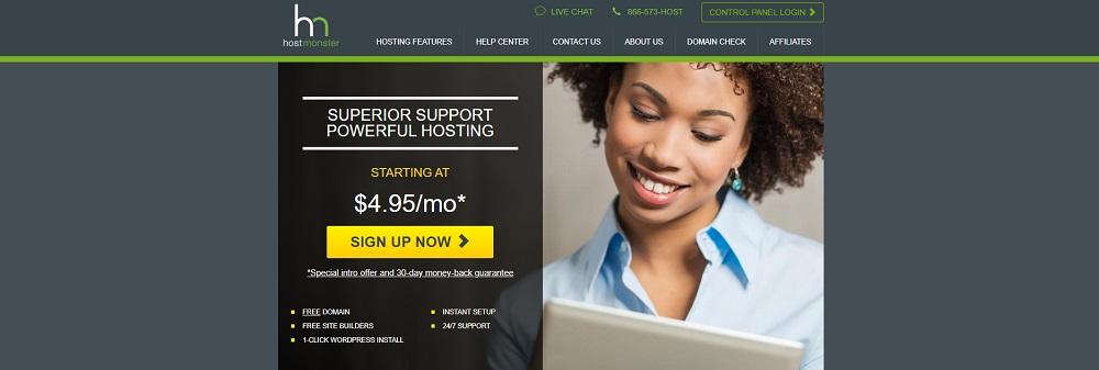 Скриншот Hostmonster.com