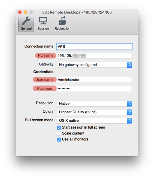 Подключение к VPS через macOS
